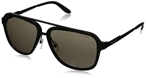 Carrera CA97S Aviator Sunglasses, Shiny Black & Brown Gray, 57 - Sunglasses Brown Carrera