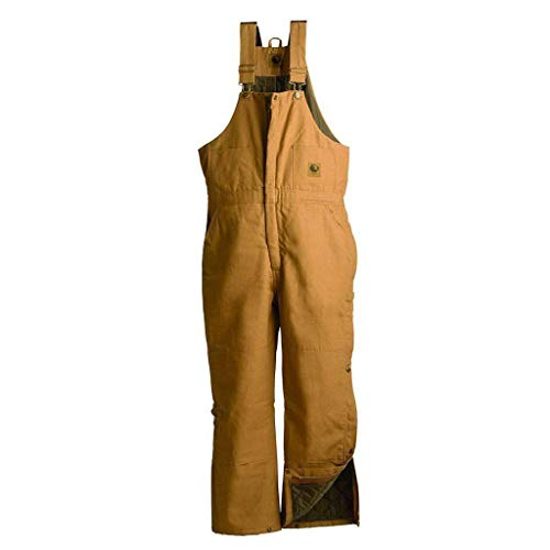 Insulated Taffeta Bib - Berne Mens Deluxe Insulated Duck Bib Overall (Brown 4XSH)