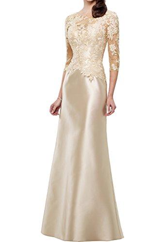 Beige 2017 Partykleider Traum Etui Ivydressing Bodenlang Abendkleider Satin Neu Spitze Brautmutterkleider q1xwvR