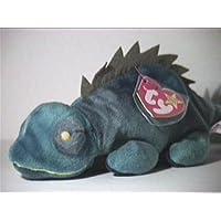 TY Beanie Baby - IGGY la Iguana (tela oscura con espigas)