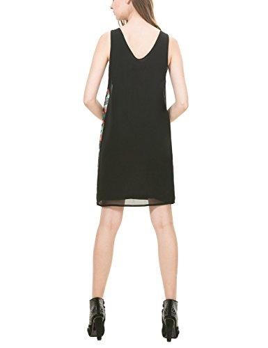 Damen Knielang VEST Linie 36 Herstellergröße NEGRO Kleid 2000 A Schwarz CRISÓSTOMO 38 Desigual OCqYwdO