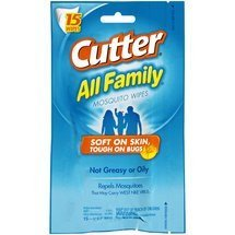 Cutter All Family Mosquito Repellent Wipes by Cutter