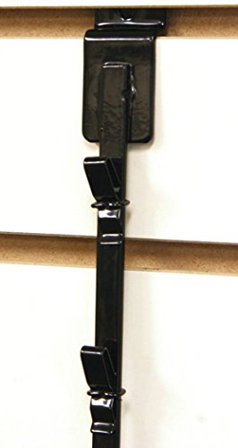New Retail 12 Clips Slatwall Mount Clipper Display Single Black Strip by Counter Display (Image #1)