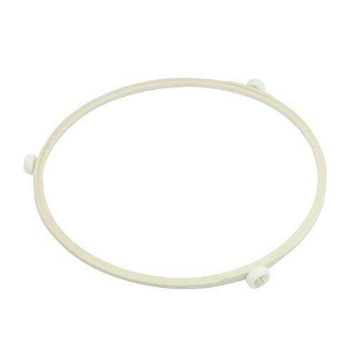 Soporte universal para horno de microondas con placa de cristal y ruedas de plástico, color blanco