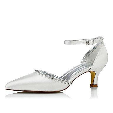 Las Mujeres'S Wedding Shoes Confort Seda Primavera Otoño Boda Vestido De Noche &Amp; Cadena Comfort Lace-Up Bajo El Talón De Marfil-2 2En 3/4De Marfil Us5 / Ue35 / Uk3 / Cn34 US8 / EU39 / UK6 / CN39