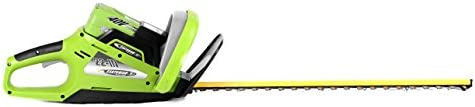Earthwise LHT14022 22-Inch Blade 40-Volt Cordless Electric Hedge Trimmer, 2Ah Battery Charger Included