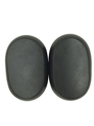 Zabrina 2 Pcs Personal Large Massage Stone Set Basalt Hot Rocks Stones, 4.33 In 2.75 In