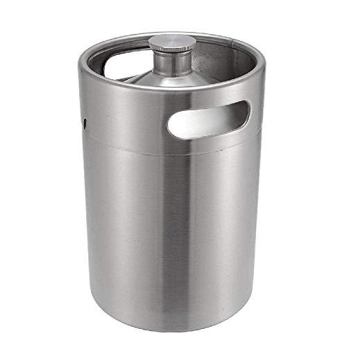- IRONWALLS 5L Mini Beer Keg Glower Kegerator For Home Brew Stainless Steel Silver