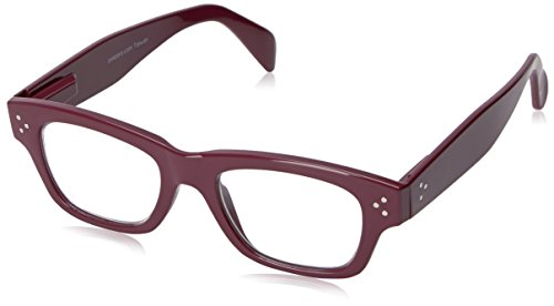 Peepers Women's Dauntless 2303150 Rectangular Reading Glasses, Berry, 1.5