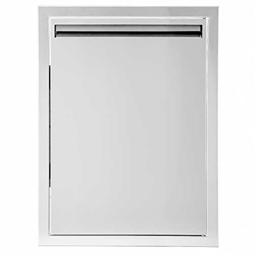 BBQGuys.com Aspen Series 17-inch Stainless Steel Right-hinged Single Access Door - (Right Hinged Stainless Single)