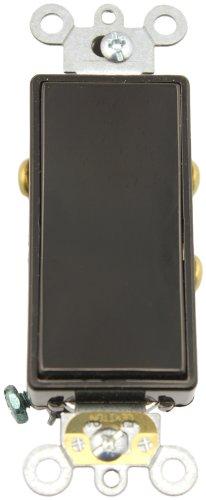 Leviton 5685-2E 15 Amp, 120/277 Volt, Decora Plus Rocker, Single-Pole Double Throw, Center Off, Maintained Contact, Black - Leviton Decora Plus Double Throw