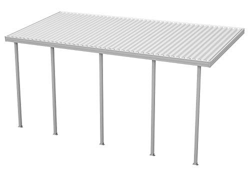 Heritage Patios 22 ft. W x 10 ft. D White Aluminum Patio Cover (5 Posts / 20 lb Roof ()