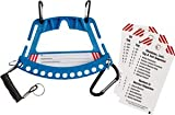 Blue Portable Safety Lock and Tag Carrier