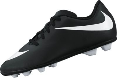 NIKE Junior Bravata Firm-Ground Soccer Cleat Black/White Size 2.5 M US by NIKE