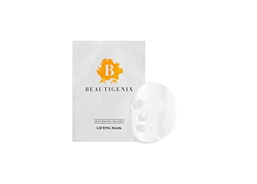 Beautigenix Korean Facial Sheet Mask - Lifting Serum with Regenerative Stem Cell - Firm and Tone for Improvement of Fine Lines and Wrinkles 1 Mask and Facial Care and Instructional - Cell Regenerative