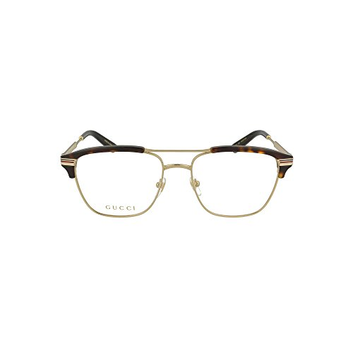 Gucci GG 0241O 003 Gold Havana Plastic Rectangle Eyeglasses 54mm (Gold Gucci)