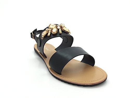 CHIC NANA Women's Fashion Sandals Black bxWs14qg9f