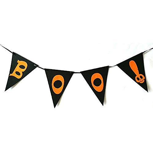 Streamers Confetti - 2m Nonwoven Bunting Banner Decorative Halloween Happy Pennant Hanging Garland Party Flags - Streamers Banners Streamers Confetti Doll Christmas Tree Banner Birthday Happy Fa