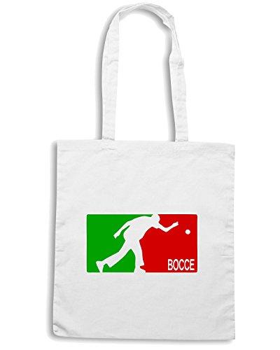 T-Shirtshock - Bolsa para la compra OLDENG00026 bocce Blanco
