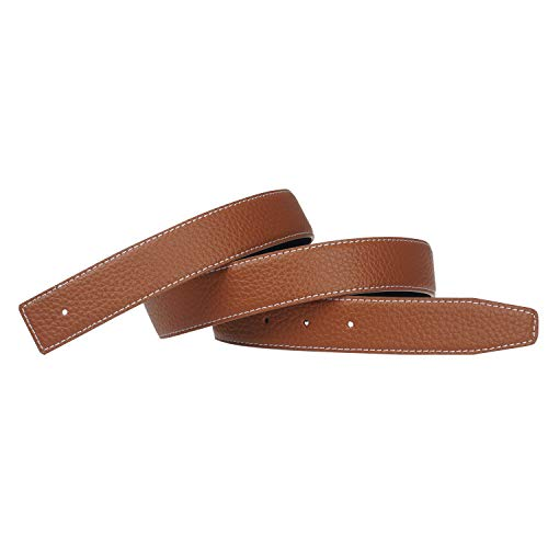 (Replacement Belt Strap Reversible Replacement Belt Strap Genuine Leather Fits - for Hermes 1.3in Wide 36inch Brown)