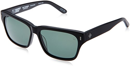 Spy Optic Unisex Tele Polarized Sunglasses Black / Happy Gray Green Polar