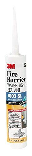 3M Fire Barrier Water Tight Sealant 1003 SL, 10.1 fl. oz, Cartridge (Pack of 12)
