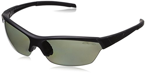 Smith Approach Carbonic Polarized Sunglasses, Matte Black Frame, Polar Gray Green/Ignitor - Smith Sunglasses Polarized