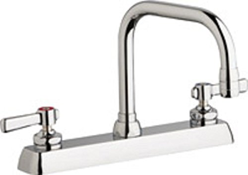 Chicago Faucets 527-205807AB Kitchen Sink Faucet Chrome Plate 1.5 GPM