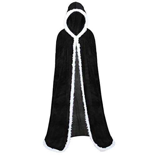 Christmas Cardigan Cloak Women Red Tunic Full Length Hooded Robe Cloak Cosplay Costume Cape for Masquerade Party