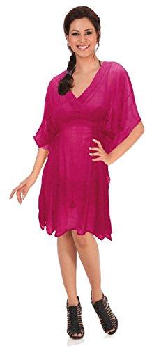 LA LEELA Women's Beach Swimsuit Bathing Suit Cover Ups for Swimwear Short Mini B