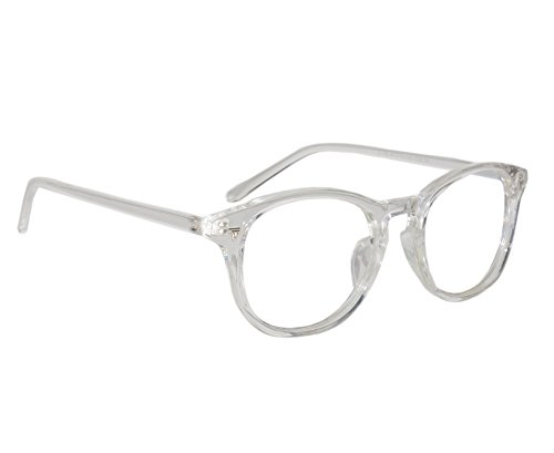 cdae0aff4a Image Unavailable. Image not available for. Colour  Peter Jones Round Transparent  Unisex Optical Frame ...