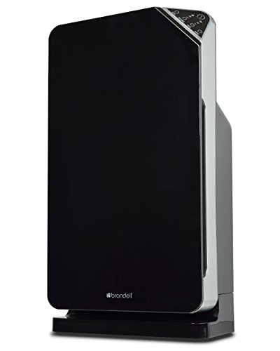 Brondell O2+ Balance Air Purifier with True HEPA and Carbon Filtration for Odor and VOCs (Black)