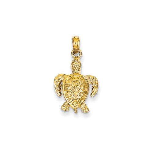 14k Yellow Gold Sea Turtle Pendant 14k Yellow Gold Turtle Pendant