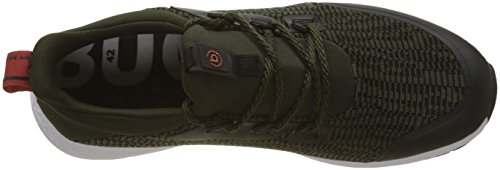 Sneaker Verde Uomo Dark bugatti 342518606900 Green 7100 Slip on wqz6tp