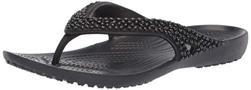 Crocs Women's Kadee II Embellished Flip Flop, Black 9 M US