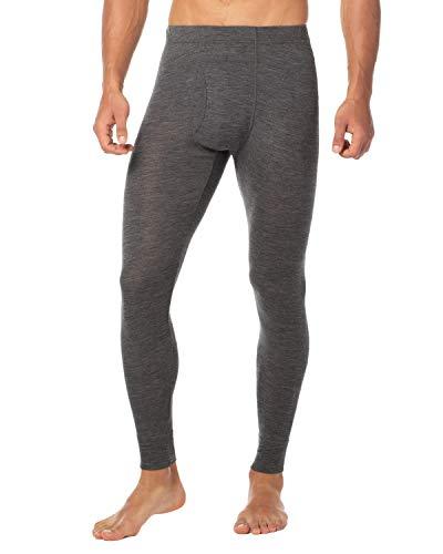 LAPASA Men's 100% Merino Wool Thermal Underwear Pants Long John Leggings Base Layer Bottom M30 (XX-Large, Dark Grey)