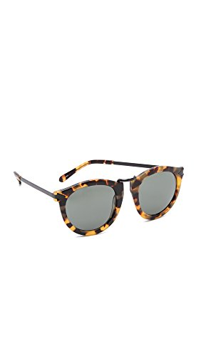 Karen Walker Women's Harvest Sunglasses, Crazy Tort/Smoke Mono, One Size