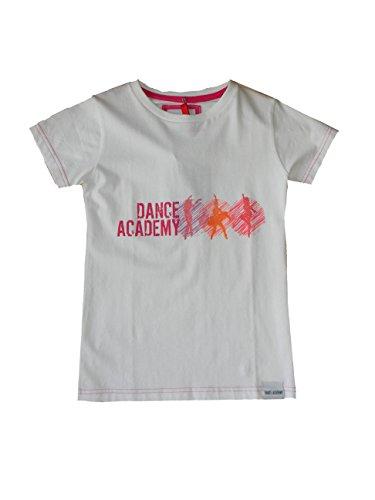 Dimensioni 128 Shirt 134 Balletto Logo 122 146 140 corta Junior Cm T Dance bianca manica Academy Zdf Atti 152 zU7PqB5xw