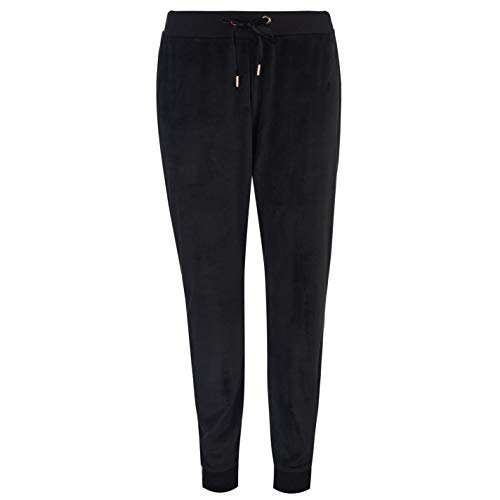 Golddigga Womens Velour Jog Pants Fleece Jogging Trousers Black M