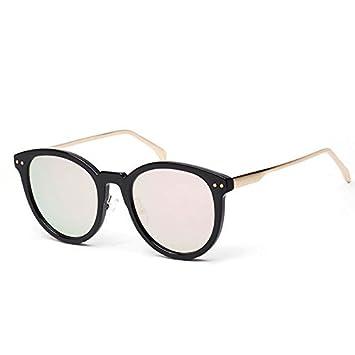 yirone (TM) estilo coreano sol polarizadas Mujer Marca Funda, Espejo redondo Polaroid Gafas