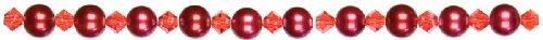 UPC 016321062269, Jewelry Basics Pearl & Crystal Bead Mix 6mm 101/Pkg-Red Round