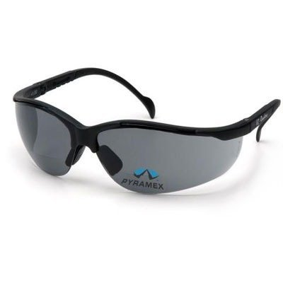Pyramex Safety Glasses - Venture Ii Bifocal Safety Glasses - Gray Lens - +2.0 Lens