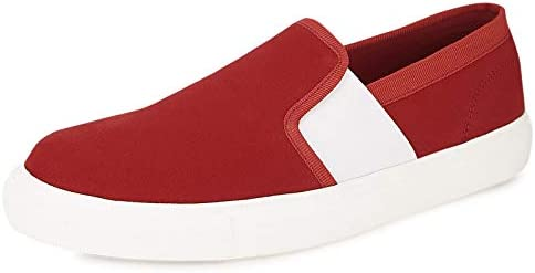 Koovs Red Fashion Sneakers For Men: Buy