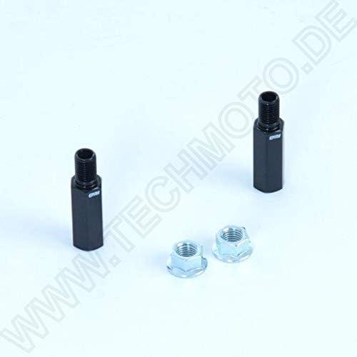 R/&G Blinker Verl/ängerung Kennzeichen Halter M8 35mm Schwarz Eloxiert Aluminium
