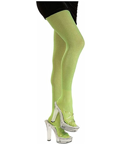 Rubie's Lime Green Glitter Tights Costume Accessory Adult Std. (Single Pack) 6825 ()