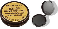 Fingerprint Pad 1.5'' Diameter 6-Packs by Dactek