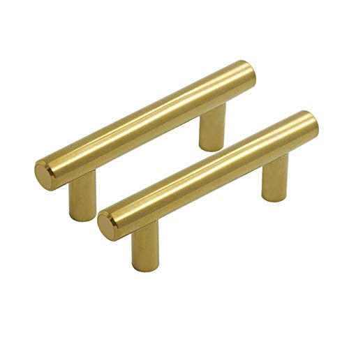 (Goldentimehardware Brushed Brass Gold Color Hole Distance 64mm(2-1/2