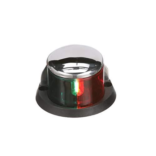 (Seachoice 04971 Navigation Streamline Bi-Color Bow Light - Stainless - Horizontal Mount - for Boats Under 39 Feet)
