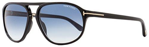 53512e11313 Tom Ford Men FT0447 JACOB 60 Black Blue Sunglasses 60mm ...