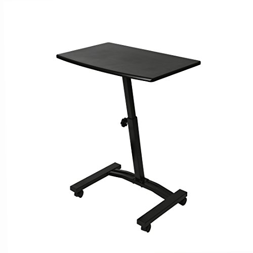 Seville Classics OFF65854 Mobile Laptop Sit Stand Computer Desk, 20.5'' x 33'', Black by Seville Classics